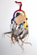 NEW GRINGO FAIR Trade Hippy Boho Etnico Hippie in pelle scamosciata Acchiappasogni