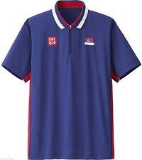 UNIQLO x Novak Djokovic 2012 Olympics London M Polo Shirt Serbian Flag Blue NEW!
