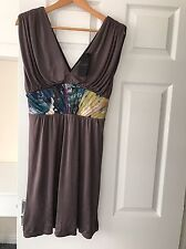 BRAND NEW LADIES 'TEDBAKER' GREY/PRINT DRESS. SIZE 10/ TED 1. LABEL ON. RRP £159