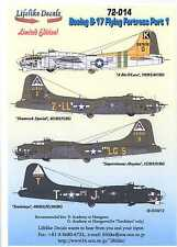 Lifelike Decals 1/72 BOEING B-17 FLYING FORTRESS Heavy Bomber Part 1