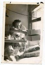 1940s Vintage  photo San Haven ND Sanatorium Hospital bed Lady Patient 4x6 SHND1