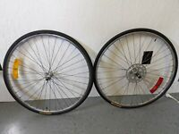 27 in road bike wheel set Maillard hubs Matrix rims  126/100 OLD Panaracer Trek