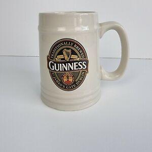 Guinness Ceramic Stoneware Tankard Mug Pub Home Bar Cup Beige Cream