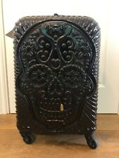 it Luggage Cabin Small Suitcase Skull Grillz Design Expendable 4 Wheels