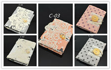 Mini Cute Women Girls Lace Fabric Credit Card Book Business Card  Wallet Pocket