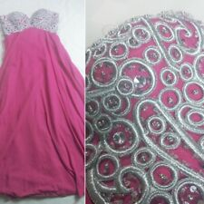 May Queen Couture Pink Embroidered Size 10 Dress