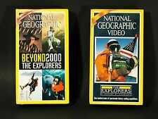National Geographic VHS Lot of 2 The Explorers Beyond 2000 100 years Expeditions