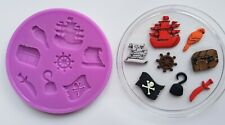 PIRATES SILICONE MOULD FOR CAKE TOPPERS CHOCOLATE