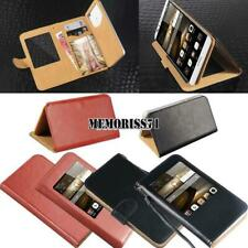 For Huawei P 8/9/10 Mate 8/9/10 Flip View Window Cover Stand Wallet Leather Case