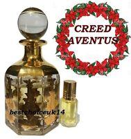 Kreed Aventus 3ml Fruity Floral Musk Amber Perfume Oil in Handy Glass Bottle