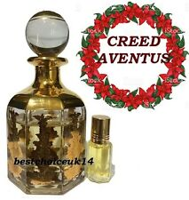 Creed Aventus 12ml Fruity Floral Musk Amber Perfume Oil in Handy Glass Bottle