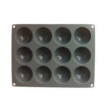 PIASTRA 12 piccole cupole PLATINUM Silicone Torta Stampo Vassoio Quadrato Muffa Bakeware