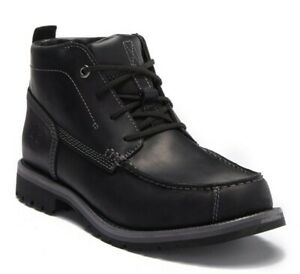 Timberland Grantly Chukka Leather Moc Toe Ankle Boot Black A16l7 Men's 9.5 M NEW
