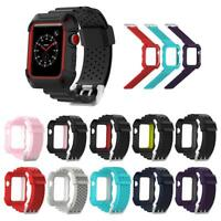 Smart Watch Band Bracelet Wrist Strap w/ Case Replacement for Apple Watch 1 2 3
