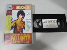 BRUCE LEE JUEGO CON LA MUERTE CHUCK NORRIS VHS COLECCIONISTA EDICION ESPAÑOLA