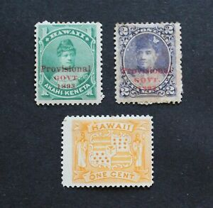 HAWAII - SCARCE EARLY LOT WITH PROVISIONAL O/P UNUSED MH RR