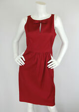 Moschino Cheap & Chic Sz 42 8 Red Cotton Keyhole Bow Sleeveless Sheath Dress