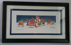 Barbara Lavallee 1996 'The Snow Lady' Signed Print. Matted & Framed.