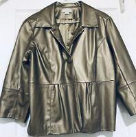 Christopher & Banks Gold  Metallic Dress Jacket Lightweight Coat Sz Medium M