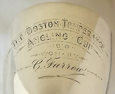Sterling Silver Fishing Trophy Goblet. Boston Lincs Temperance Angling Cup 1910.