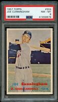 1957 Topps BB Card #304 Joe Cunningham St. Louis Cardinals PSA NM-MT 8 !!!