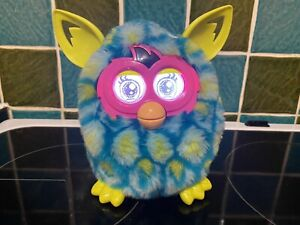 Furby Boom 2012 Blue & Green Soft Kids Interactive Toy by Hasbro- Working Used