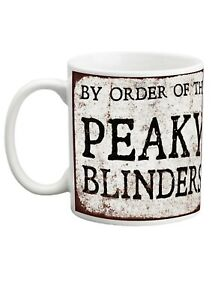 10 oz Peaky Blinders distressed porcelain mug