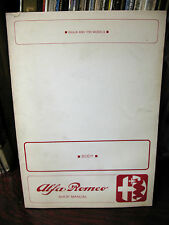 ALFA  ROMEO  SHOP  MANUAL  GIULIA & 1750 BODY  ORIGINALE PUBLIC.No 1570  NICE!