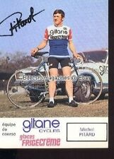 MICHEL PITARD cycling cyclisme Peugeot Gitane Autograph carte signée