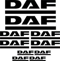 DAF decals, graphics, stickers x10 pieces any colour