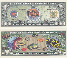 2 Frogs Froggie Tropical Ribbit Million Frog Dollars Novelty Currency Bills #156