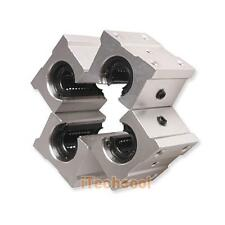 Pack of 4 SBR20UU 20mm Aluminum Linear Router Motion Bearing Solide Block