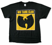 Wu Tang Clan White Outline Logo Black T Shirt New Official Merch