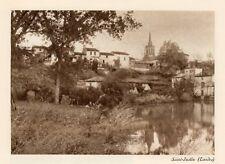 40 SAINT JUSTIN VUE GENERALE IMAGE 1927 OLD PRINT