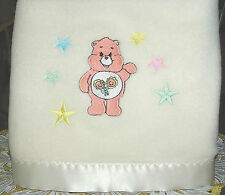 NEW  Happy Time Polar Fleece Satin/Trim Baby Blanket