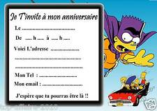 5 cartes invitation anniversaire  simpson  07  d'autres articles en vente !!!