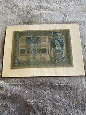 Pre WWI Currency 1000 Tausend Kronen Bank Notes Austria Hungary 1902 Good Cond!