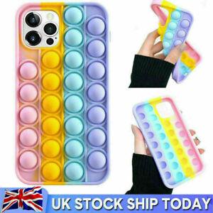 Pop Fidget Push Bubble Toys Phone Cover Case For iPhone 12 11 Pro Max 6 7 8 Plus
