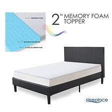 SLEEPLACE 2 Inch Premium Air Flow Bed Topper, I Gel Memory Foam Mattress Pad