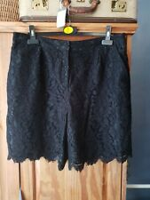 Ladies Topshop Lace Shorts Size 16 Christmas Party