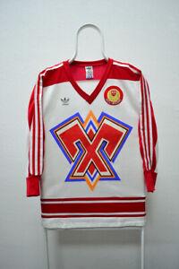 EHC Biel-Bienne Vintage Ice Hockey Jersey Adidas Shirt Made In West Germany