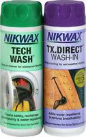 Nikwax Tech Wash & TX Direct Twin Pack Cleaning Waterproof Outdoor Proof 300ml