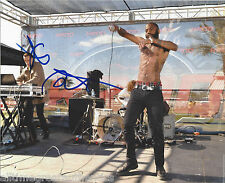 DEATH GRIPS (MC RIDE & ANDY MORIN) SIGNED AUTHENTIC 8X10 PHOTO X2 w/COA HIP HOP