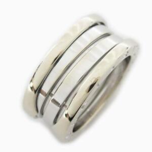 BVLGARI Ring bague anello #10 18K 750 White Gold Used
