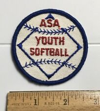 Amateur Softball Association ASA Youth Softball Round Embroidered Patch