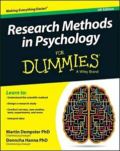 Research Methods in Psychology For Dummies by Martin Dempster Book The Cheap