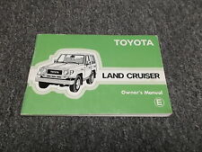 1984 Toyota Land Cruiser Original Owners Manual Book FJ70 BJ70 FJ73 FJ75 HJ75