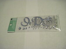 Scrapbooking Stickers Jolee's Small I Do Silver Ring Gems Wedding