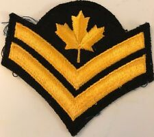 CANADIAN ARMED FORCES MASTER CORPORAL RANK INSIGNIA Gold on Black