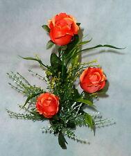 Rosengesteck getopft Tischgesteck,Tischdekoration, Blumengesteck orange